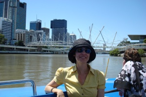 gliding along the river banks of Brisbane