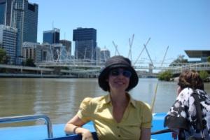 gliding along the river banks of Brisbane
